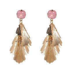 Wholesale 2018 Top Design Damen Modeschmuck Bohemian Accessoires Übertriebene Bunte Legierung Blatt Shap Drop Ohrringe