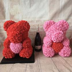 Orso Rosa di amore per il compleanno, anniversario, cerimonia nuziale, graduazione, regalo del fiore