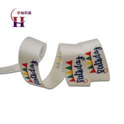 Impreso en relieve de satén de poliéster cinta amplia
