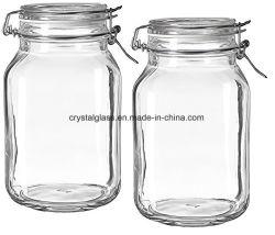 Stockage d'aliments scellés hermétiques pot de verre classique avec Lock-Lid Hermetic 500ml/1000ml