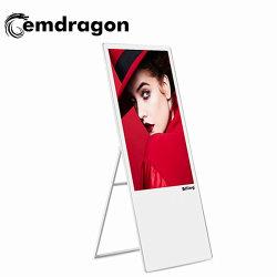 Tragbares 43-Zoll-LCD-Display für digitale Beschilderung Bodenstativ LCD-Touchscreen-Werbung Ständer Für Kommerzielle Bürogebäude Ad Player LCD-Werbeplayer für den Außenbereich LCD-Werbeplayer