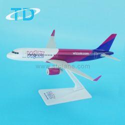 A320neo Wizz 18.8см рекламной плоскости из пластмассовых материалов модели