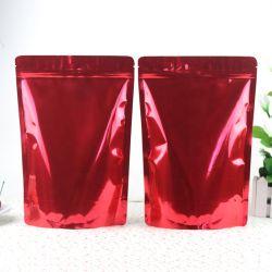 [ببا] يحرّر [إك] بلاستيكيّة طعام يعبّئ يقف فوق رمز بريديّ [تا بغ] مع صمام عالة [برينتينغ ببر] يرقّق رقيقة معدنيّة رائحة برهان