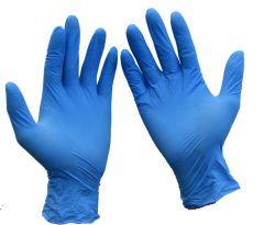 분말 자유로운 유액 자유로운 파란 처분할 수 있는 안전 고품질 방어적인 니트릴 장갑