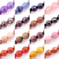 Comercio al por mayor piedras preciosas perlas facetadas (Ronda 4-12mm, se vende por cordón)