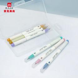 De naar maat gemaakte Kaart die van 10 van Kleuren MetaalAmbachten DIY Scrapbooking van de Markeerstift Vastgestelde de Pen van de Kunst van de Borstel voor Tekening maken