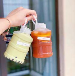 El deporte de alta capacidad de Agua Potable de botellas PET Botella de agua de la cuchara con empuñadura de la tapa