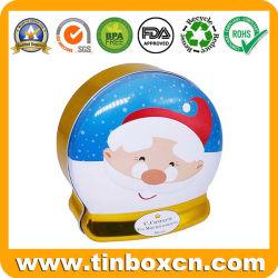 Promotion du Père Noël métal irréguliers peuvent l'étain pour les bonbons de chocolat un emballage cadeau Box