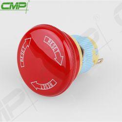 El CMP 16mm de plástico del orificio de montaje del interruptor de parada de emergencia el pulsador
