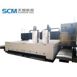machine van de Boring van de Assen van 7000*4000mm de Dubbele Boor in de Verwerking van de Brug van de Flens van de Boiler