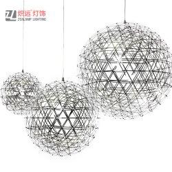 Moderna Nórdica creativa Iluminación de acero inoxidable fuegos artificiales lámpara colgante de bola