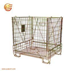 Empilage pliable en acier à usage intensif de Wire Mesh Bouchon de vase de préformes PET conteneur de stockage pour l'entrepôt