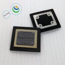주문 두 배는 착색한다 PU 핸드백 (45*39mm)를 위한 가죽 합금 청바지 금속 격판덮개 스티커 또는 새겨진 금속 레이블을