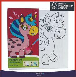 Hoogwaardige afdrukmogelijkheden Canvas Paintings Sets met Acrylic Paint voor Kinderen tekenen