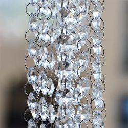K9 cortinas de cristal con Octagon cordón para la boda y lámpara de araña
