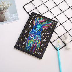 Penas Owl 5D DIY Notebook Diamante Cartoon Longdiamond Arte de bordar em forma especial Diamond Mosaic Bird Notebook