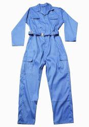 파란 색깔 보호의 작업복 제복 작업복