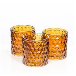 4oz de Kop van de Kaars van het Glas van de Houder van de Kaars van het glas voor Feestelijke Decoratie