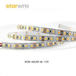 Alta luminosità 120LEDs/M 7.6W SMD 12V flessibile 2835 una striscia dei 3528 LED per l'indicatore luminoso del Governo