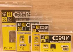 PVC impermeable de plástico suave insignia Horizontal titular de la tarjeta de identificación con cordón para el visitante
