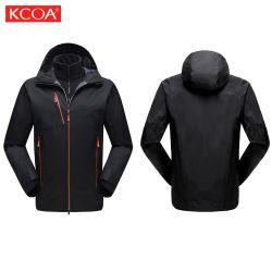 Negro Windproof OEM Deportes de invierno polar Softshell chaquetas y abrigos hombres