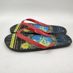Nouveau style de la mode hommes sandales Stock Flip Flops Stock pantoufles de plage (FF194-1)
