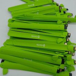In het groot Silicone Wrist Band USB 2.0 Memory Stick Flash Pen Drive 64GB 8GB 16GB 32g