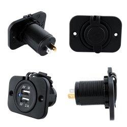 12V allume-cigare Chargeur double USB de doubleur de gamme de puissance de sortie de l'adaptateur chargeur de voiture micro USB