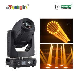 Spotlight RGBW 350W 17R y ver el punto de haz de luz de discoteca moviendo la cabeza LED