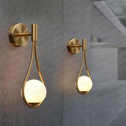 Стеклянная колба Mdern стены лепешки с одной спальней на прикроватном мониторе латунные золотого цвета и без излишеств настенный светильник (WH - или-12)