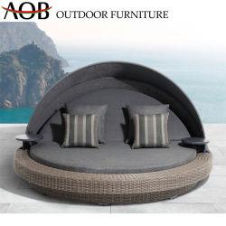 Chinesische moderne im Freiengarten-Ausgangsmöbel AluminiumSunbed gesetzter Freizeitdaybed-Aufenthaltsraum mit Kissen