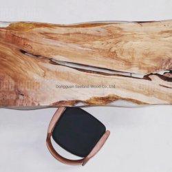 عادة حجم حيّة حاجة جوزة [سليد ووود] طاولة لوح /Walnut جزارة قالب أعلى /Natural طاولة خشبيّة/حاجة حيّة خشبيّة [كونترتوب] /Epoxy راتينج نهر طاولة