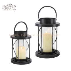 Black Home Home Furacão decorativas Lantern