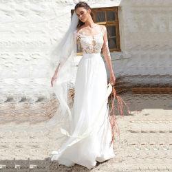 زهو العروس الثوب طويل الثوب في زفاف شاطئ هفرس Lh2016