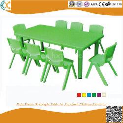 Tabella di plastica di rettangolo dei capretti per la mobilia prescolare dei bambini