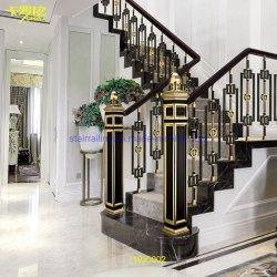 실내 하우스의 럭셔리 브라스와 제이드 스톤 계단 스핀들