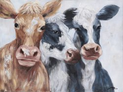 Pittura ad olio di oggetti di pittura a mano di animali decorazione d'arte della parete