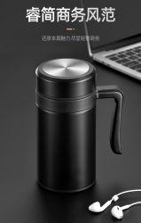 Sottobicchiere antisdrucciolevole della tazza della tazza di caffè dell'acciaio inossidabile del regalo di Businiess con la maniglia 450ml doppia