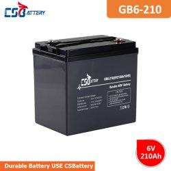 Csbattery 6V210ah Mf AGM аккумулятор для ИБП/Emergency-Light/игрушки/пожарной безопасности