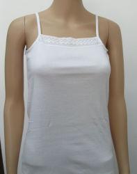 Correa básica Tank Top con algodón/Spandex tejido Jersey