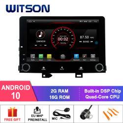 Четырехъядерные процессоры Witson Android 10 DVD GPS для KIA Рио 2017 построен в точкахи 16 ГБ флэш-памяти