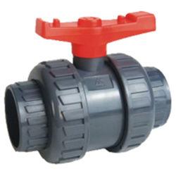 Alta Qualidade união plástica da válvula de esfera UPVC Irrigação da Válvula Esférica ligação dupla UPVC ligação dupla Válvulas de Esfera fabricantes ANSI DIN norma JIS para abastecimento de água