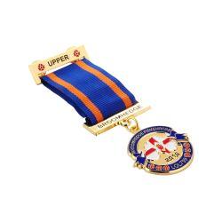 Banheira de venda barato Custom 3D Logotipo Embarcações de metal estampado Emblema Militar Monograma Medalha com fita impressa