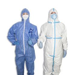 Livraison gratuite Type 5/6 CE approuvé pour les OEM/ODM Équipement de sécurité et de combinaison jetable Anti-Chemical microporeux de vêtements de protection