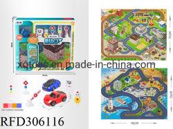 De hete Verkopende Auto's van de Legering van de Mat van het Spel van Jonge geitjes bekleden Speelgoed