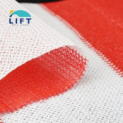 Basso prezzo nuovo Design Dual-Colour Rosso e Bianco 95% UV Rete per paralume in tessuto in tessuto HDPE bloccante