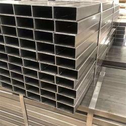 مواد بناء GB/ASTM//JIS/En على أحجام المخزون العادي RHS SHS Q195-Q345 Z60-Z275 20x20/40X40 Electro/Pre/Hot dip مستطيلة الأنبوب الفولاذي المستطيل المربع المستطيل
