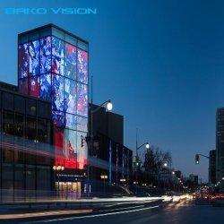 P3.91-7,8 para construir a publicidade de malha de vidro transparente de paredes de vídeo Cortina do visor LED