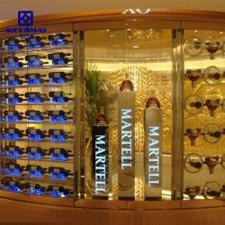 熱い販売によってカスタマイズされるステンレス鋼のハング壁のワイングラスラック