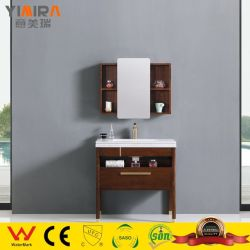 الحمام حمام حديث بسيط من خشب البلوط ذو خزانة مزيج من مرحاض حوض الغسيل أثاث خشبى صلب